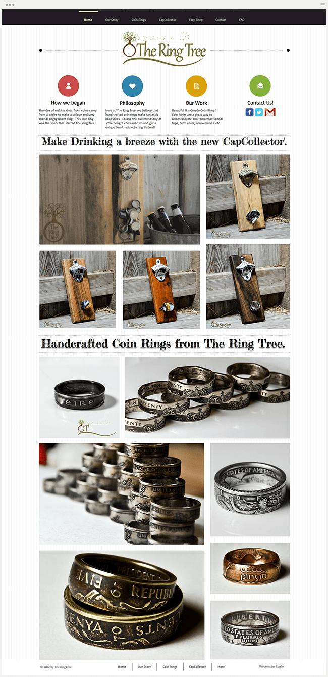 RingTreeのWixサイト