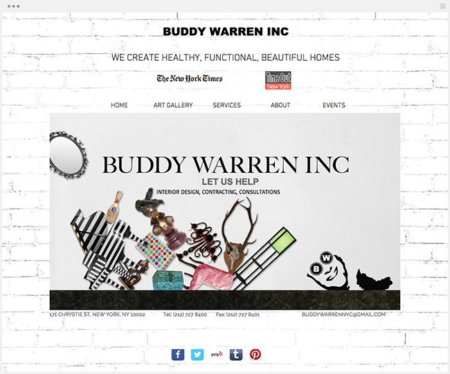 BUDDY WARREN INCのWixサイト