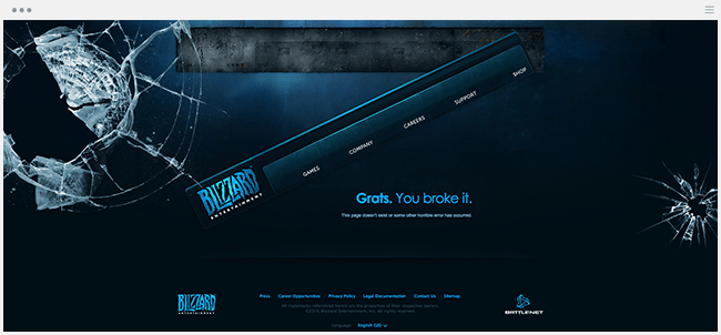 Blizzard Entertainmentの404ページ