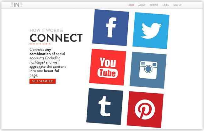 ソーシャルフィードをまとめてくれるTintアプリをホームページに追加しよう