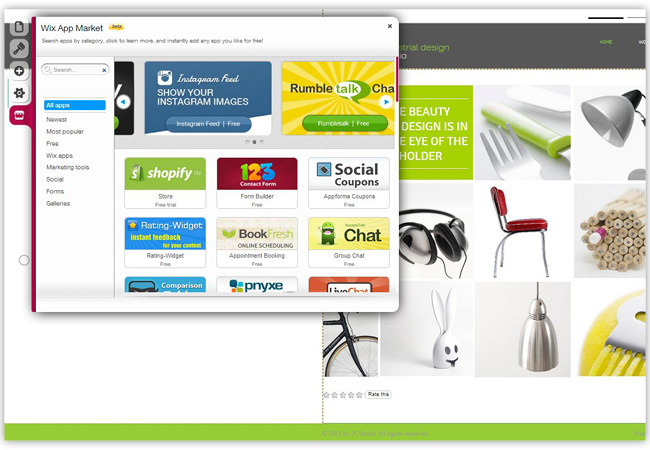Wix App Marketで便利なアプリをホームページに追加しよう