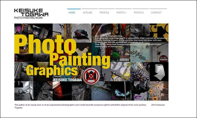 Wixホームページビルダーで作成されたカメラマンのオンラインポートフォリオサイト