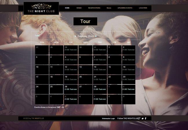 GoogleイベントカレンダーをWixサイトに追加した例