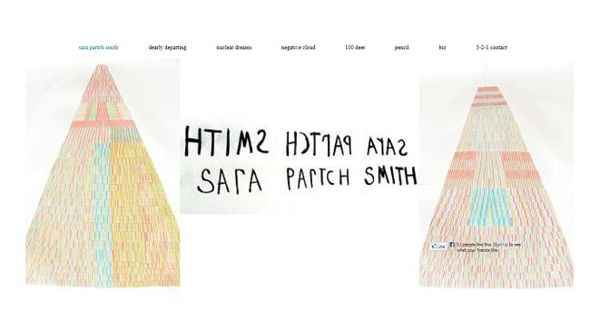 Wixテンプレートで作成されたアーティストのホームページ