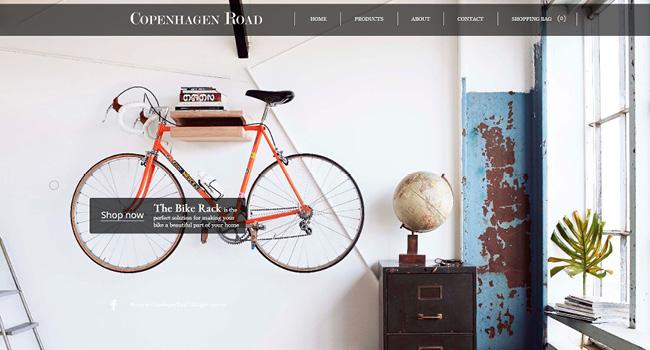 Wixテンプレートで作成された自転車ホームページ