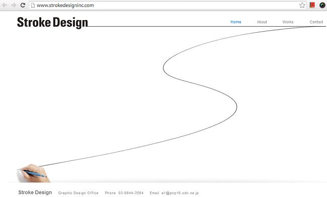 Stroke DesignのWixサイト