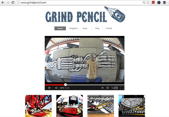 GRIND PENCIL ホームページ