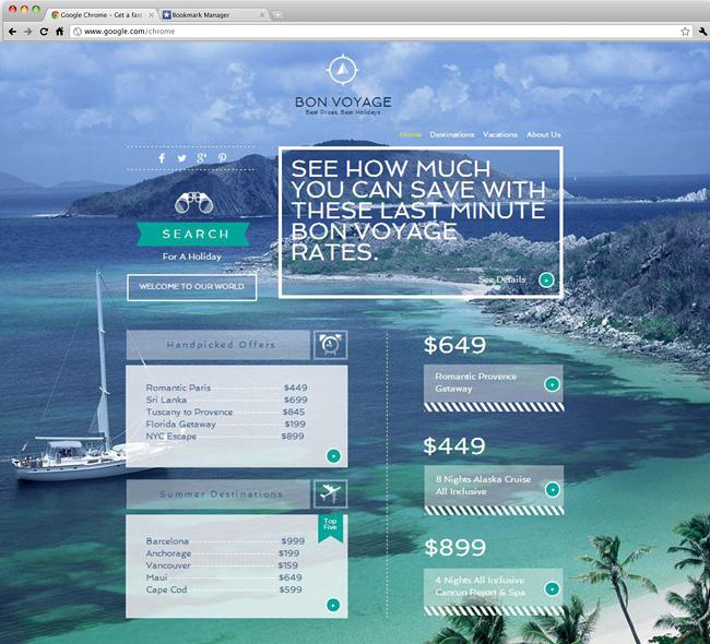 旅行会社用ホームページテンプレート