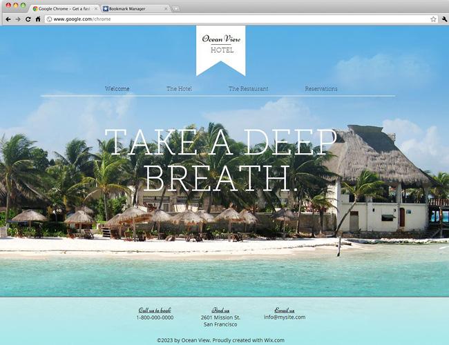 リゾート用HTML5ホームページテンプレート