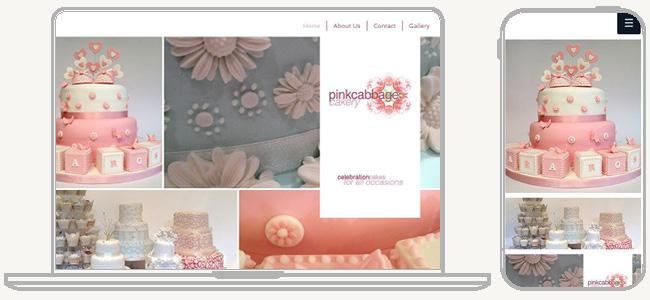 Pink Cabbage Cakery のWixサイト