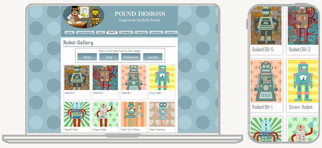 Pound Designs のWixサイト