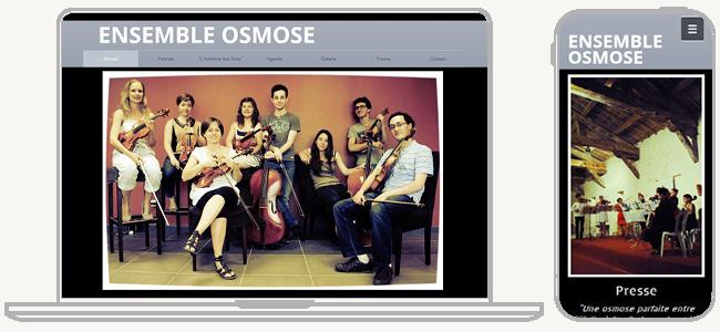 Ensemble OsmoseのWixサイト