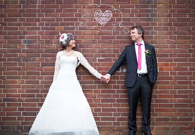 ユニークな結婚式の写真