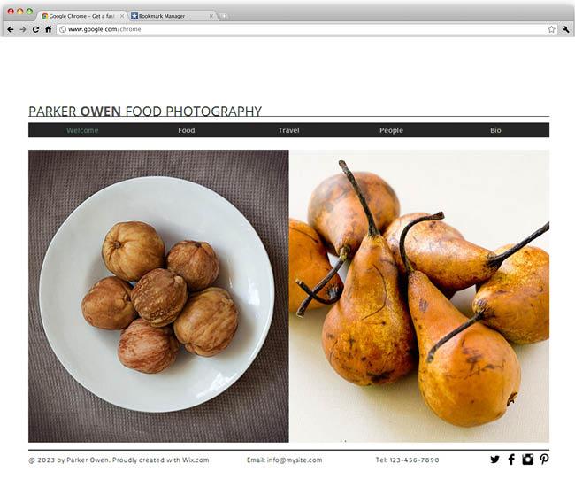 フード写真用ホームページテンプレート