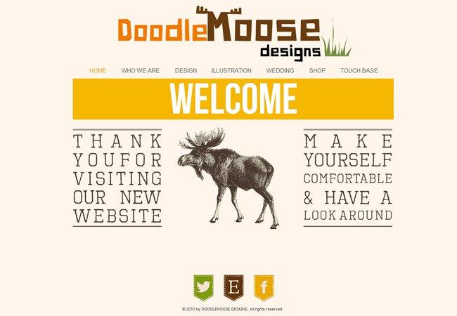 DOODLEMOOSE DESIGNSさんのWixサイト