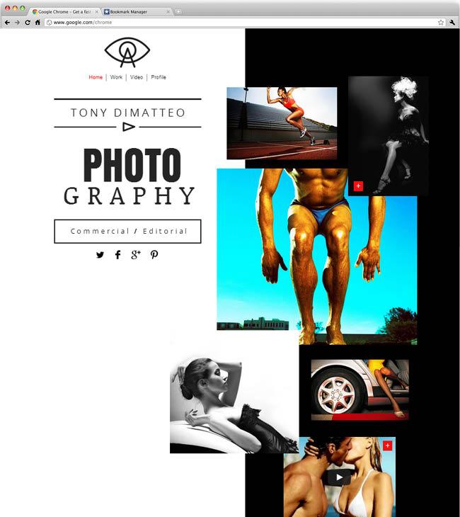 テンプレート「Photographer Website」
