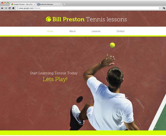 テンプレート「Tennis Instructor」