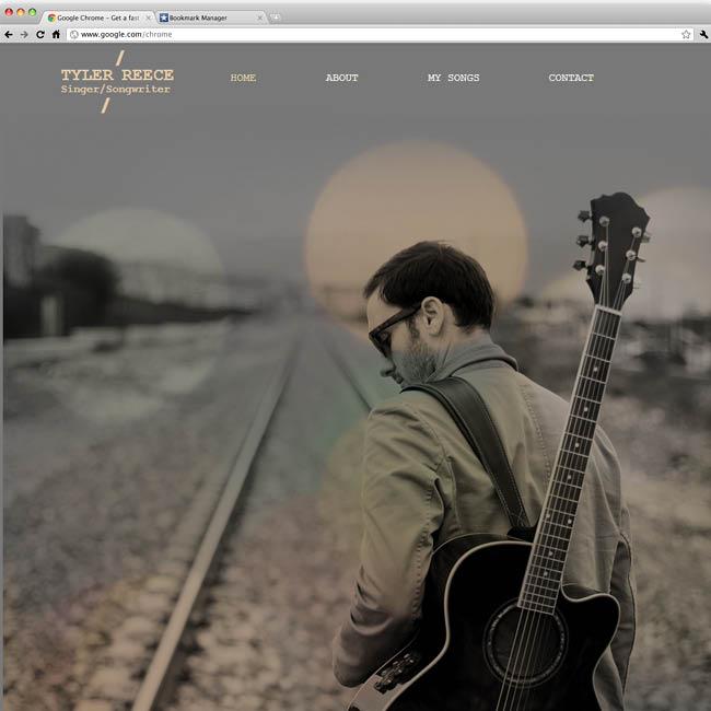 テンプレート「Singer Song Writer」