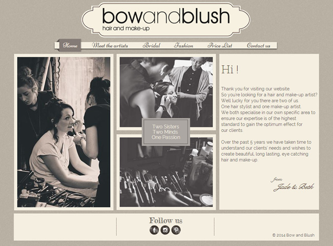 Bow and Blush