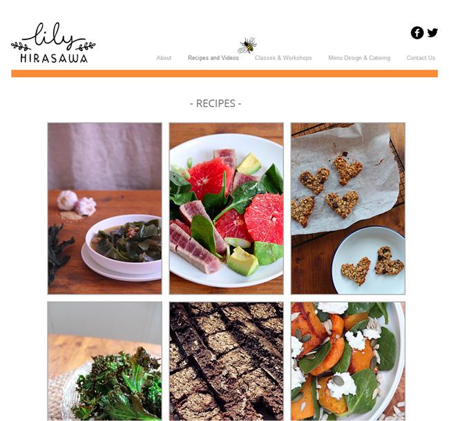 Lily Hirasawa さんのホームページ
