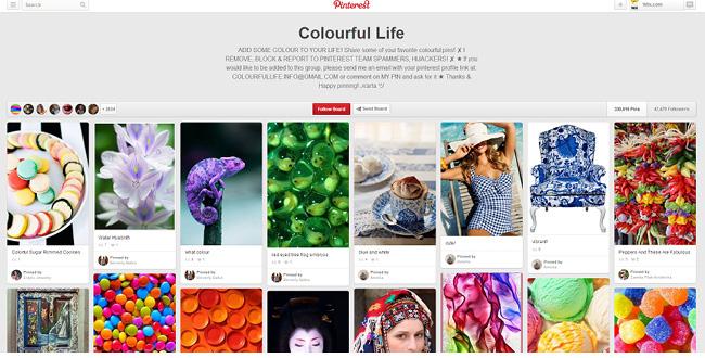 Colorful Life Pinterestボード