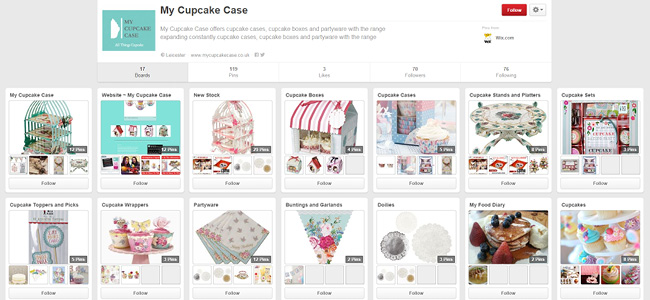 My Cupcake Case のPinterestページ