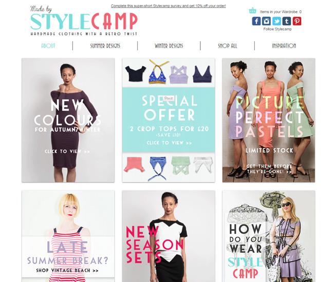 ファッションサイト「Style Camp」