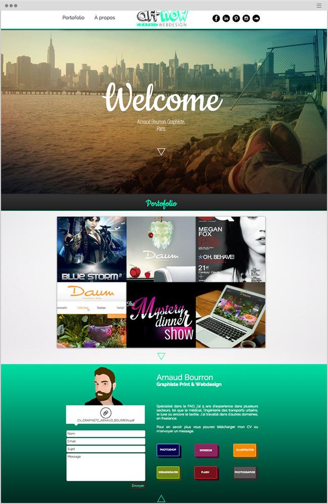 世界のWixホームページ