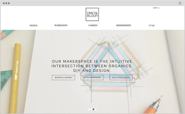 Craft & BloomのWixサイト