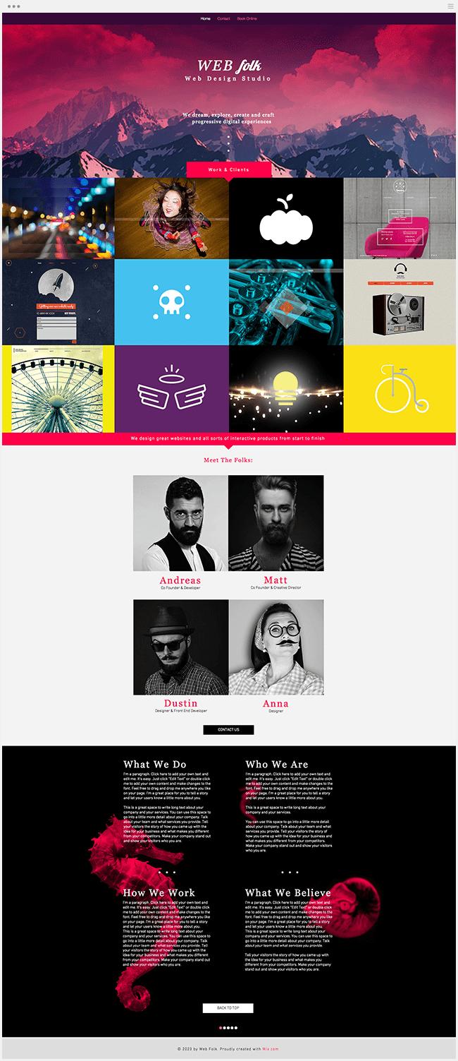 Webデザインスタジオテンプレート