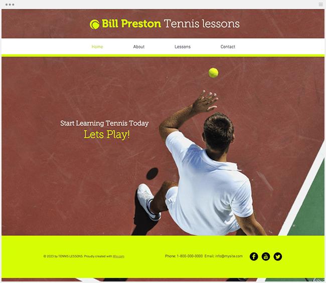 テニスインストラクターテンプレート