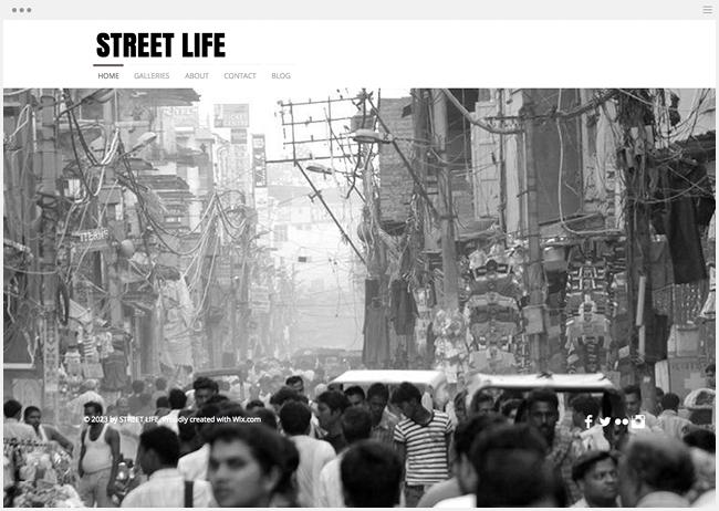 ストリート写真家ホームページ