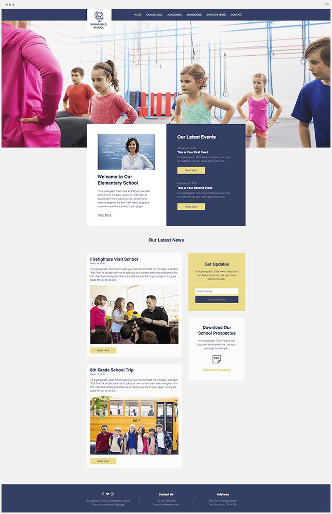 教育機関向けホームページテンプレート