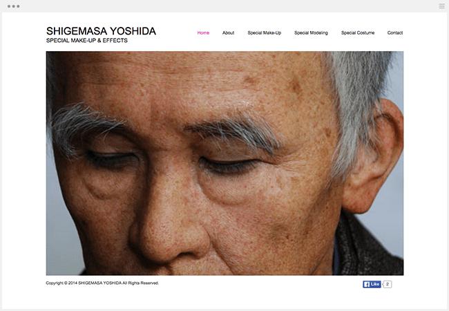吉田茂正さんのWixサイト