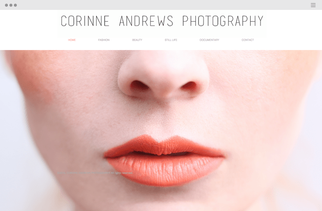 ポートフォリオサイト, Corinne Andrews Photography