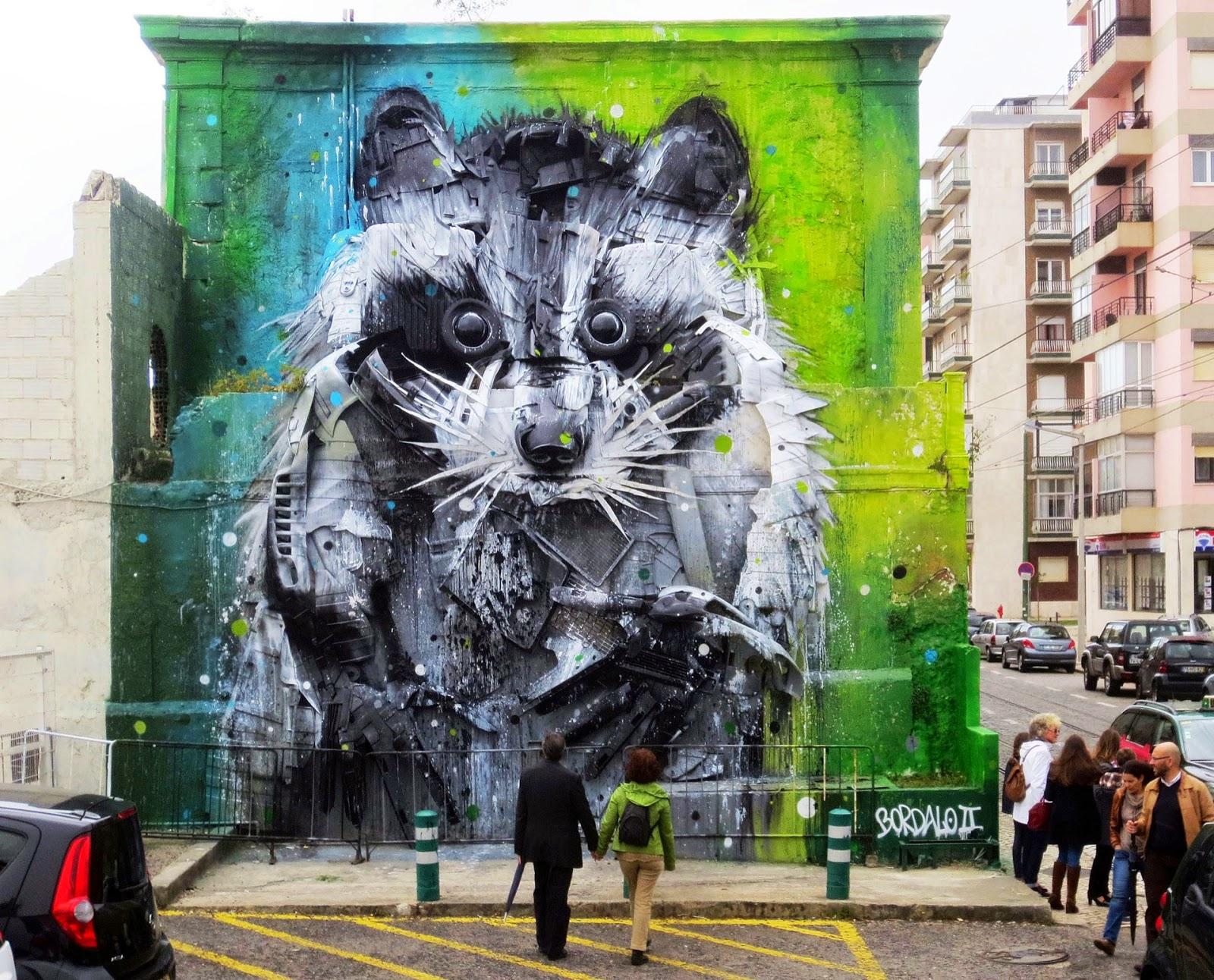 あらいぐまのストリートアート