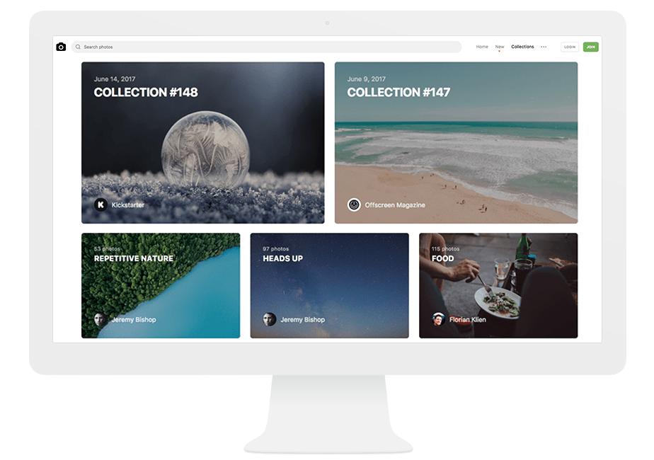 Unsplash, ホームページ作りに使える写真素材