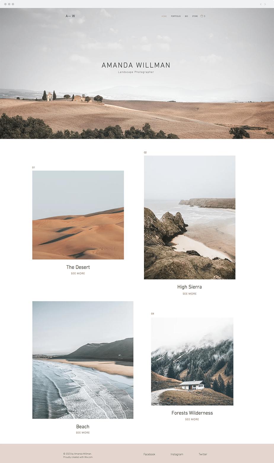 風景写真家用テンプレート