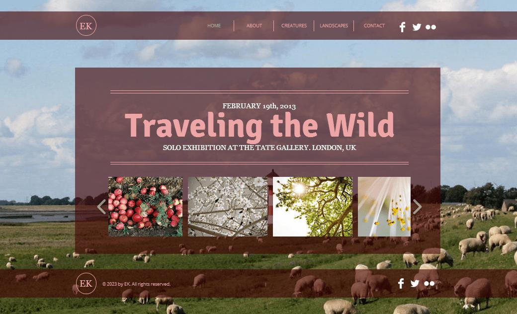 Wixホームページビルダーを使って作成されたHTML5サイトの例