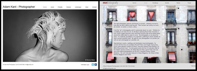 Wixのホームページテンプレートと完成したHTML5ウェブサイト例