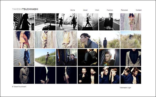 Wixホームページビルダーで作成されたカメラマンのオンラインポートフォリオ