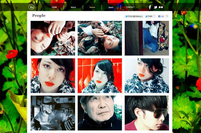 Wixホームページビルダーで作成されたモデル写真のポートフォリオサイト
