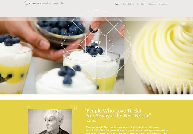 黄色と白を基調としたホームページテンプレート