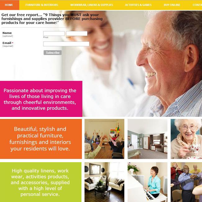 Wixユーザーが作成したフラットデザイン ホームページ 作成例 4