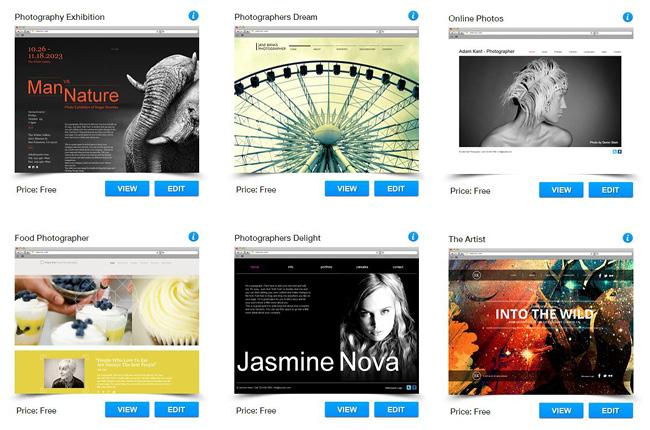 オンラインフォトアルバムに最適な無料ホームページテンプレートを選択