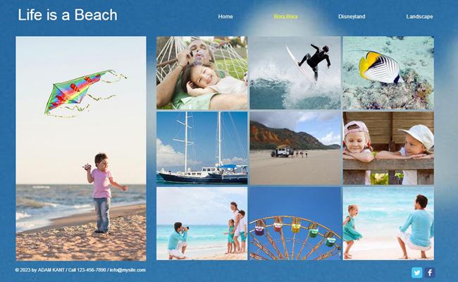 家族や友達と過ごした夏をホームページでオンラインアルバムを作ろう