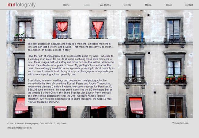 MN FotografyのWixサイト