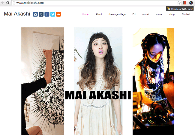 Mai AkashiのWixサイト