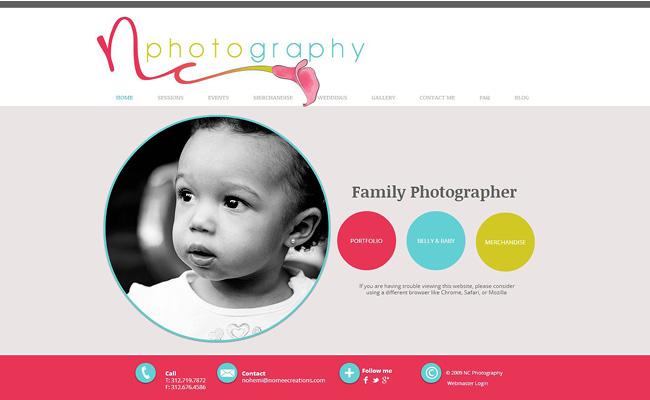 NC PhotographyのWixサイト