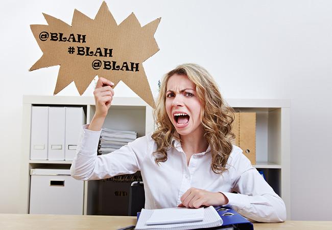 雇用主や同僚のグチはオンラインで公開しないように!誰も不満いっぱいの人は雇いたくないものです
